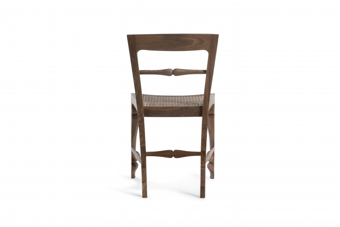 Louis Chair Rattan Back Walnut-2259