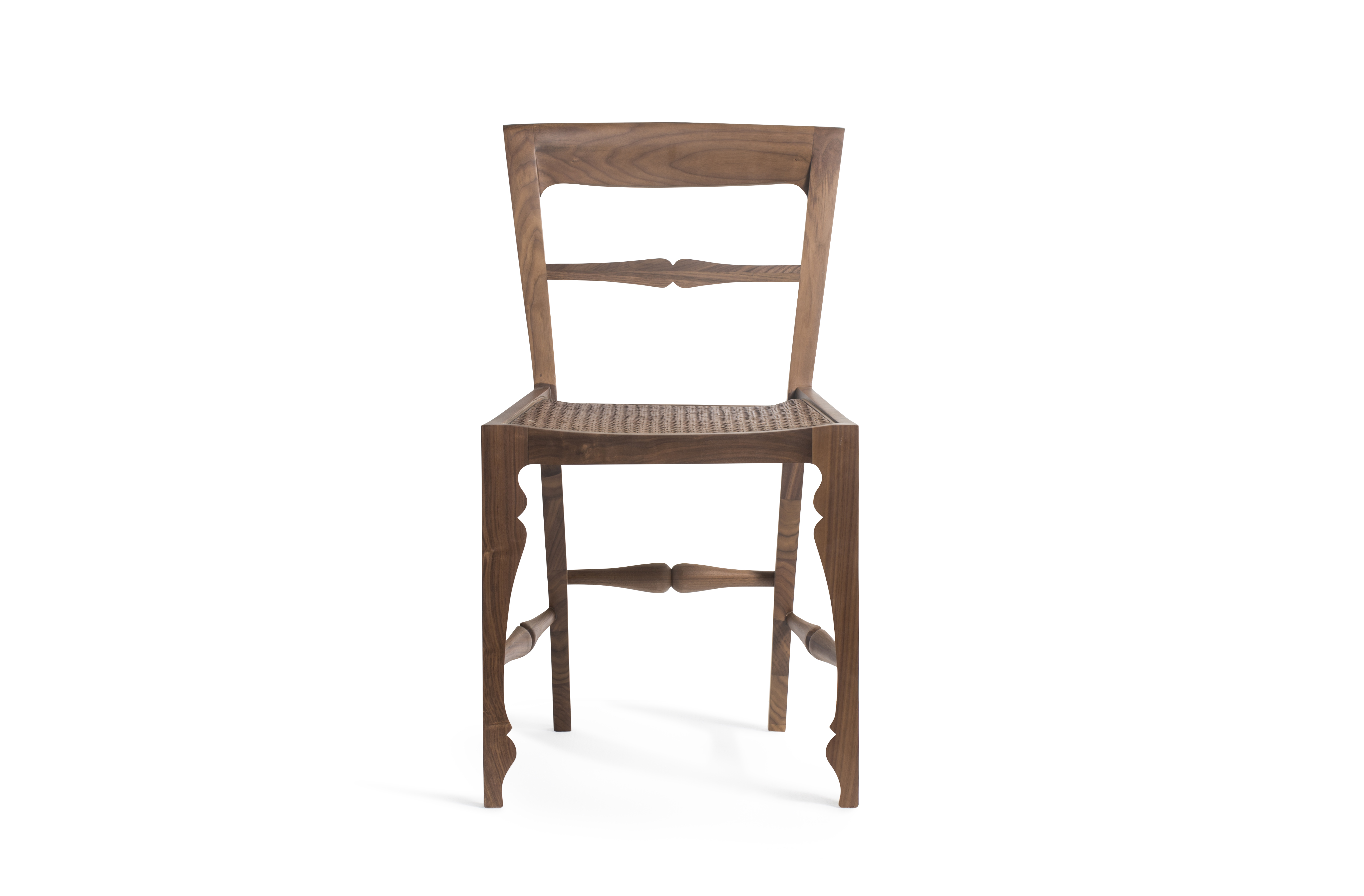 Louis Chair Rattan Front Walnut-2273