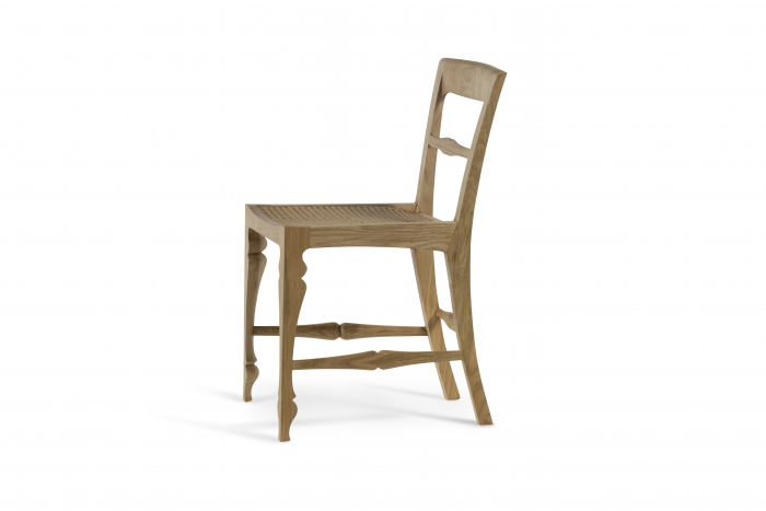 Louis Chair Rattan Side Oak-2250