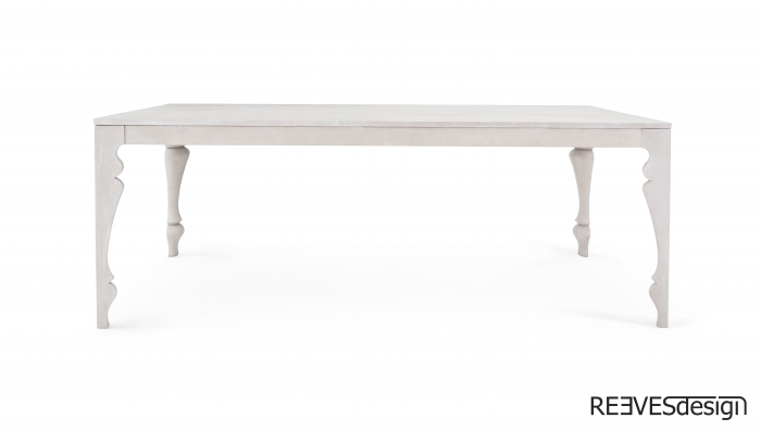 Louis Dining Table White Wash