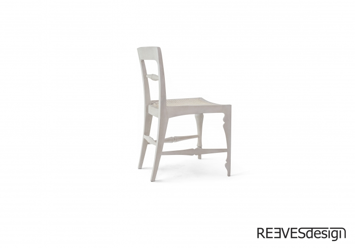 Louis Side Chair Rattan White Side