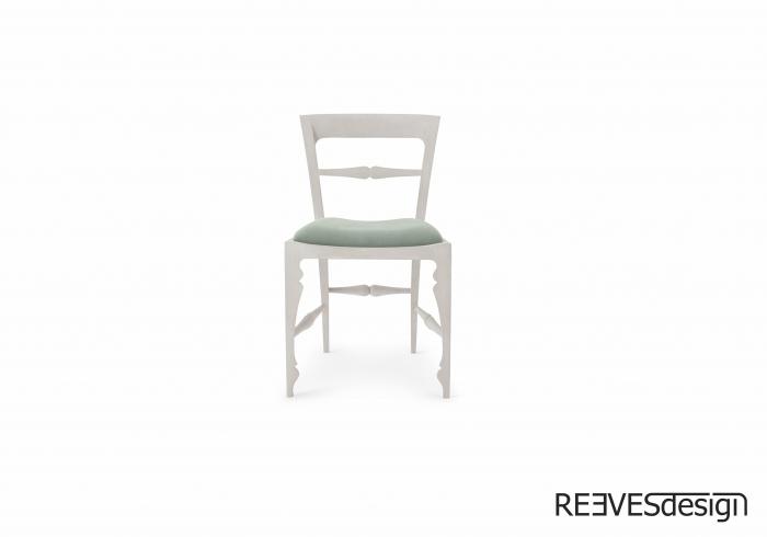 Louis Side Chair White Green