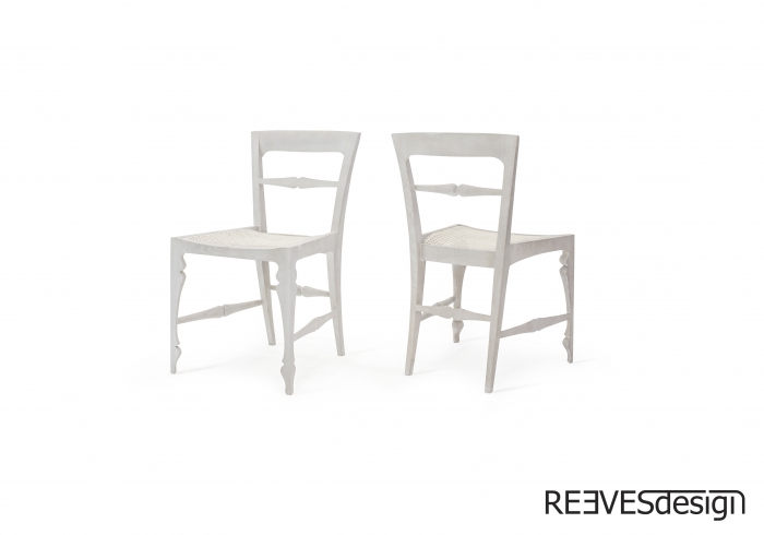 Louis Side Chair White Rattan White Rattan